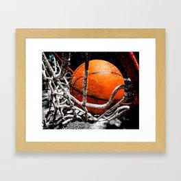 Basketball bounce version 1 Framed Art Print