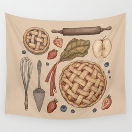 Pie Baking Collection Wall Tapestry