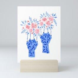 Floral cat paws Mini Art Print