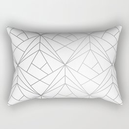 Geometric Silver Pattern Rectangular Pillow