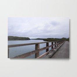 Eel River on Cook Robin Island Bridge Metal Print