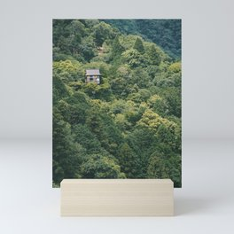 Colored Cabin in Japanese Woods. Kyoto Mountains, Japan. Travel Fine Art Nature Print. Photo Wall Art. Mini Art Print