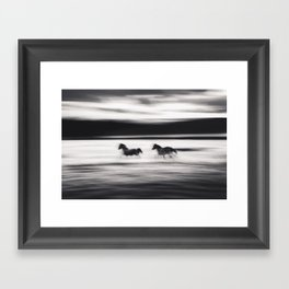 Horses in Abstract Framed Art Print