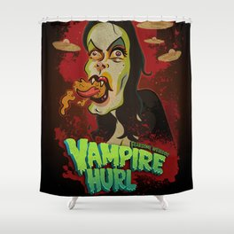 Vampire Hurl Shower Curtain