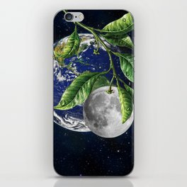 Full moon and Earth iPhone Skin