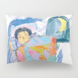 Sleeping and dreaming illustration, design for children Pillow Sham