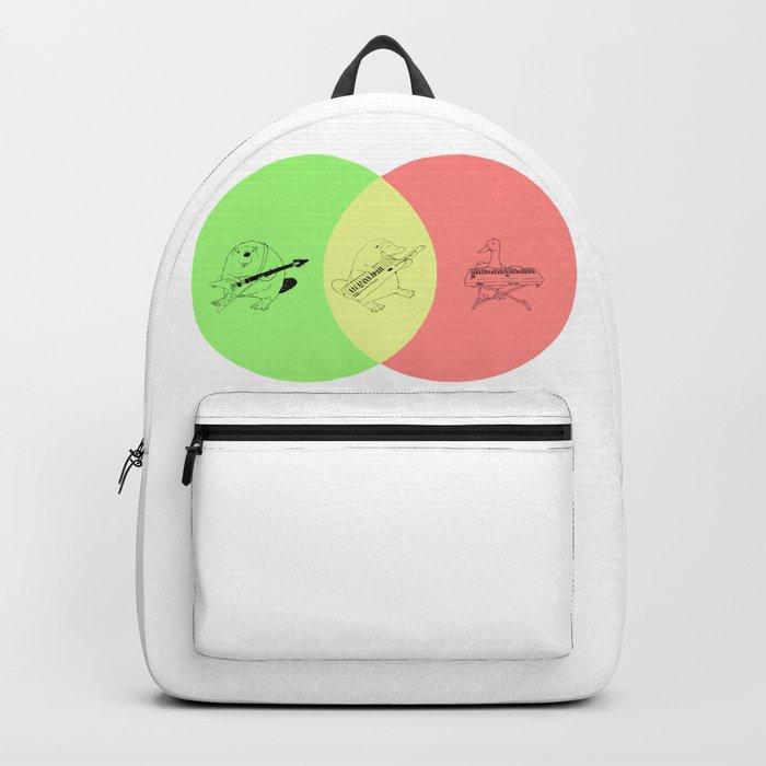 Keytar Platypus Venn Diagram Gyr Backpack By Jamesmichals Society6