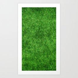 Green grass pattern Art Print