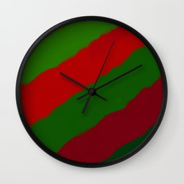 Red and Green Christmas Gift Wall Clock