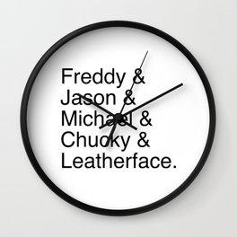 Horror's Best Wall Clock