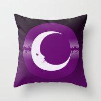 luna Throw Pillows featuring Luna by tuditees