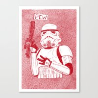 storm trooper Canvas Prints featuring Storm Trooper by David Penela