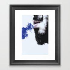 Sir blue smoke Framed Art Print