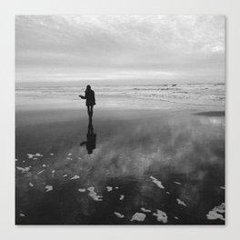 Sunset at Ocean Beach Canvas Print