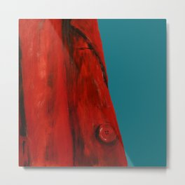 Red Coat Blue Edit Metal Print