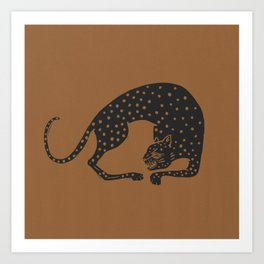 Blockprint Cheetah Art Print