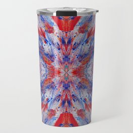 Abstraction Reaction - Abstract Painting - Bright Colorful Travel Mug