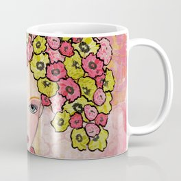The Girl with Flowers in Her Hair Coffee Mug
