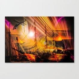 Romance of sailing Canvas Print