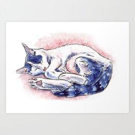 Sleeping Daphne Art Print