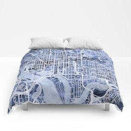 Washington DC Street Map Comforters