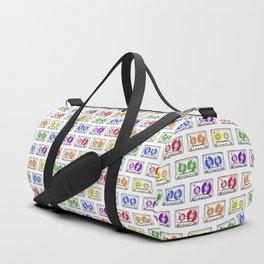 Rainbow Cassette Tapes Duffle Bag