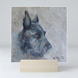 Patiently waiting- A Scottie Dog Mini Art Print