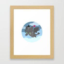 TOOTHLESS - night fury Framed Art Print