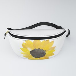 Watercolor Sunflower Fanny Pack