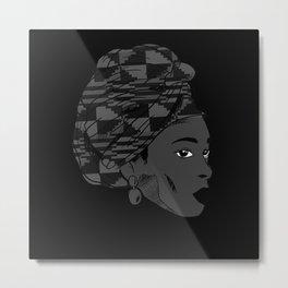 African Woman Black Lives Matter Metal Print