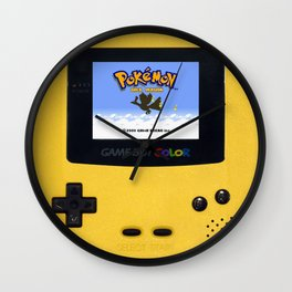 The Yellow Gameboy Wall Clock