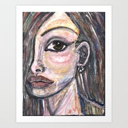 Triste Femme Art Print