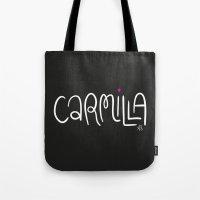 carmilla Tote Bags featuring Carmilla by saintsandstorms