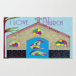ASL I Love my Church Rug
