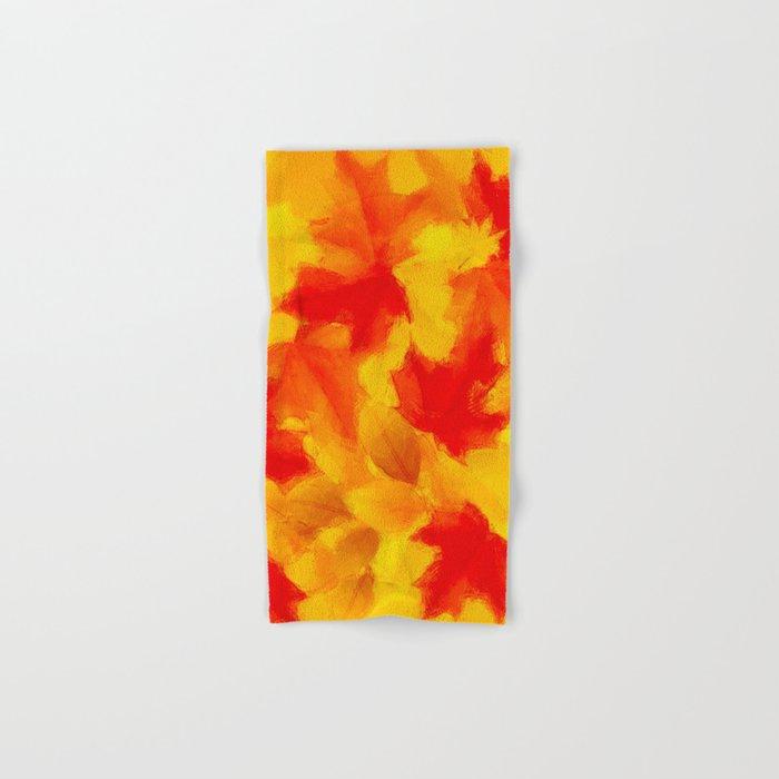 Autumn leaf abstract Hand & Bath Towel