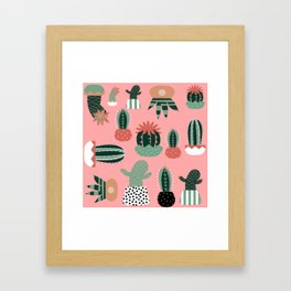 Succulents Pink Framed Art Print