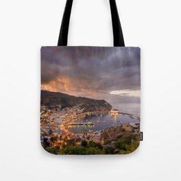 Harbor at Avalon on Catalina Island at Sunset Tote Bag