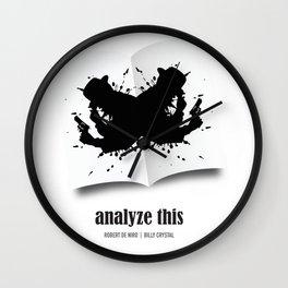 Analyze This - Alternative Movie Poster Wall Clock