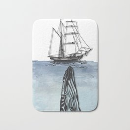 Whale And Boat Bath Mat