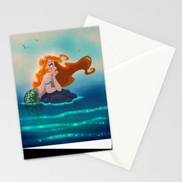 Surfaced Mermaid Stationery Cards