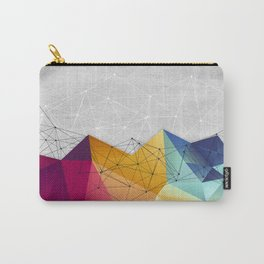 Polygons on Concrete Carry-All Pouch