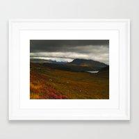 nan lawson Framed Art Prints featuring Coire Spidean nan Clach by Steve Watson