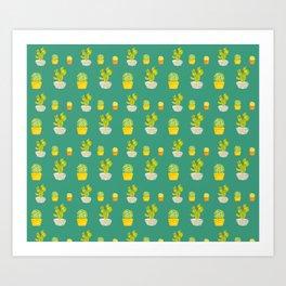 Greeny Cactus Art Print