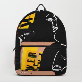 Grunge Portrait Collage Backpack