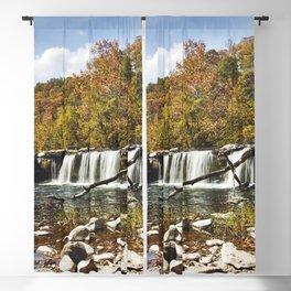 Grouping of small barns in this Monroe County West Virginia autumnal rural scene Blackout Curtain