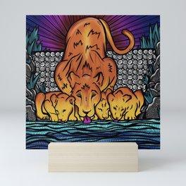 Fierce Mother- The Lioness Mini Art Print