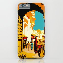 See India - Vintage Travel iPhone Case