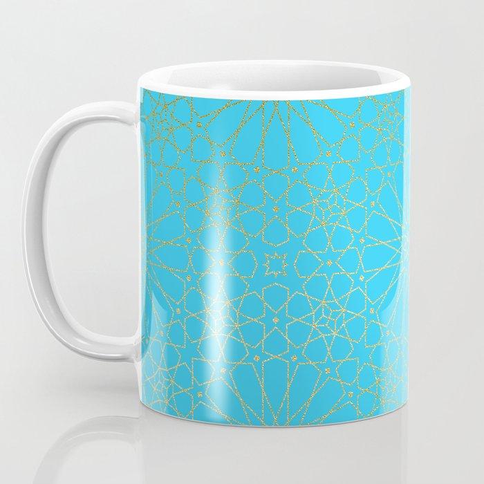 Moroccan Nights - Gold Teal Mandala Pattern - Mix & Match with Simplicity of Life Coffee Mug