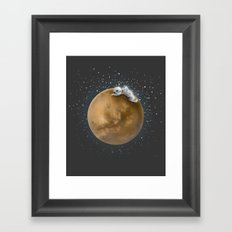 Lost in a Space / Marsporror Framed Art Print