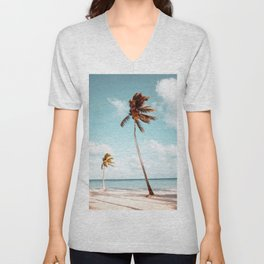 Dominican Republic Palm Beach Unisex V-Neck